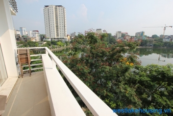 Bright apartment with lake view for rent in Truc Bach area, Ba Dinh, Hanoi