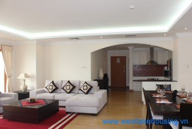 Modern apartment with lake view for rent in Truc Bach area, Ba Dinh, Hanoi