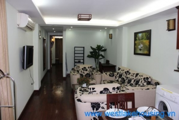 Wooden floor apartment for rent in Ba Dinh District