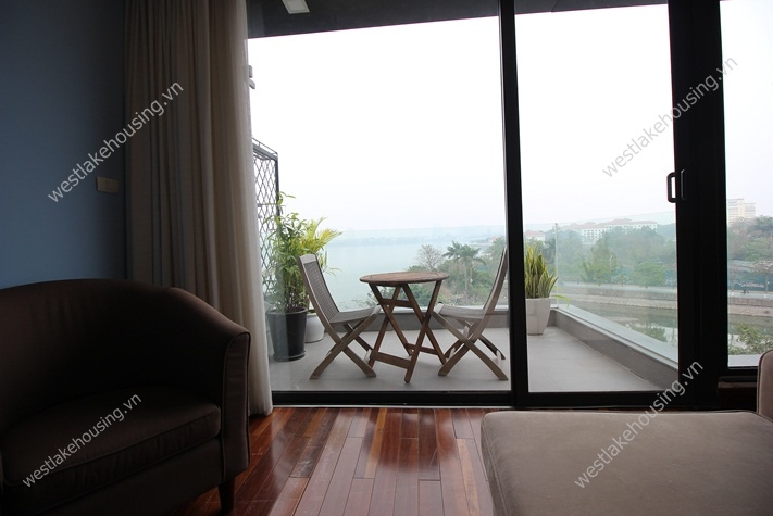 Lakeside lovely apartment for rent in Tay Ho, Hanoi