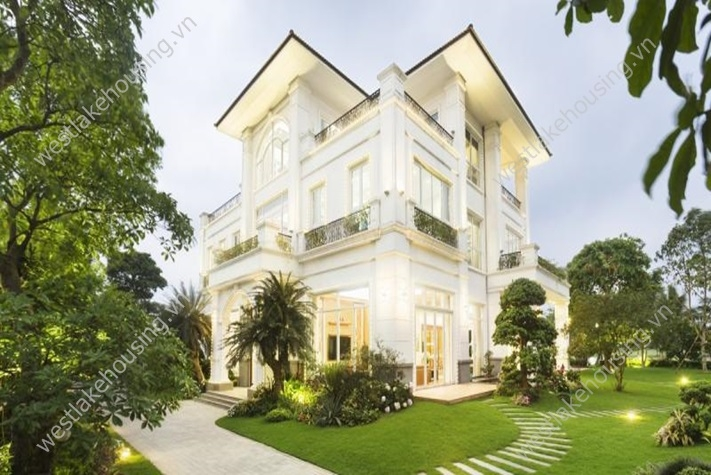 Nicely furnished villa for rent in Long Bien, Hanoi