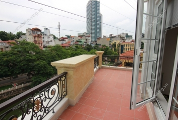 Two bedrooms with big balcony for rent at Truc Bach lake, Ba Dinh district, Ha Noi
