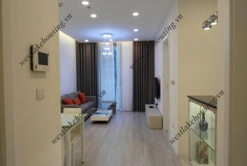 Modern 02 bedrooms apartment for rent in Vinhomes Nguyen Chi Thanh, Hanoi.
