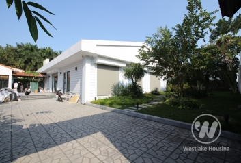 Charming one storey villa to rent with 400 sqm garden in Diplomats' compound in Tay Ho