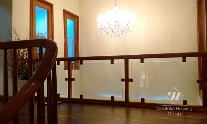 Noble-designed house for rent in Ba Dinh district