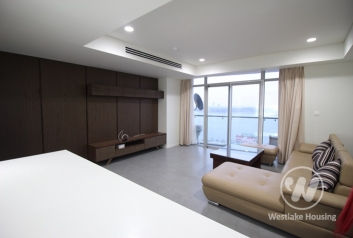 Lake view three bedrooms apartment for rent in Watermark, Tay Ho, Ha Noi