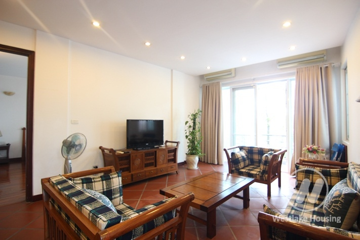 Beautiful lakeview apartment for rent in Truc Bach, Ba Dinh