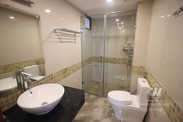Nice and modern apartment with 03 bedrooms for rent in Truc Bach Lake, Ba Dinh district