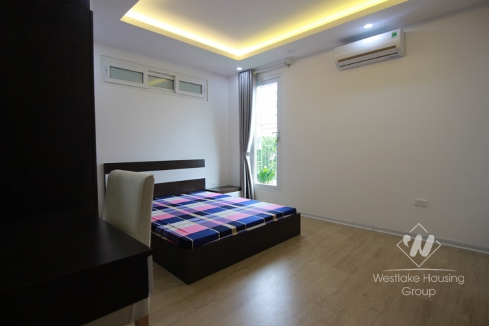Two bedrooms apartment in the high floor is available for rent in Ba Dinh.
