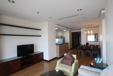 High floor apartment with big balcony for rent in Hoa Binh Green, Buoi st, Ba Dinh