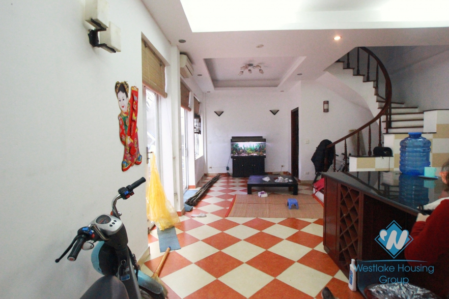 Quiet house for rent in To Ngoc Van Street, Tay Ho, Hanoi