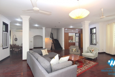 Beautiful house with 5 bedrooms for rent in the center of Westlake Tay ho, Hanoi, Vietnam