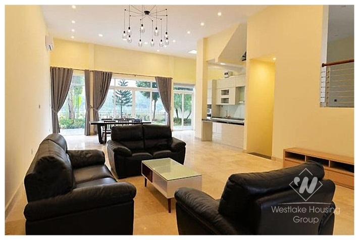 A beautiful villa with big garden for rent in Ciputra, Tay ho