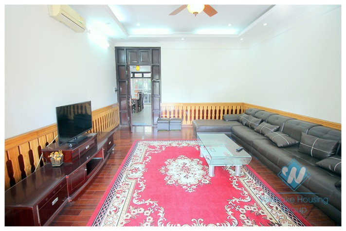 Beautiful villa with garage and garden for rent in Ciputra, Tay Ho