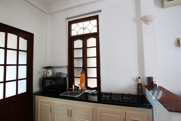 One bedroom apartment for rent near Quoc Tu Giam, Ba Dinh, Ha Noi
