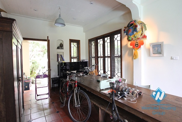 Peaceful house with swimming pool for rent in Xuan Dieu, Tay Ho