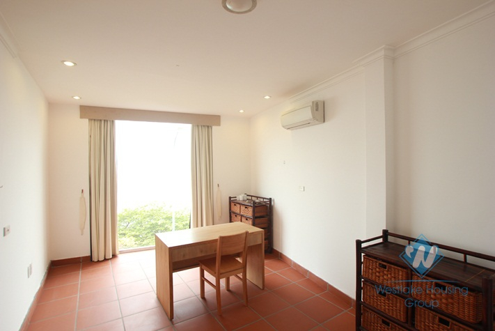Beautiful lake view apartment for rent in Yen Phu village, Hanoi