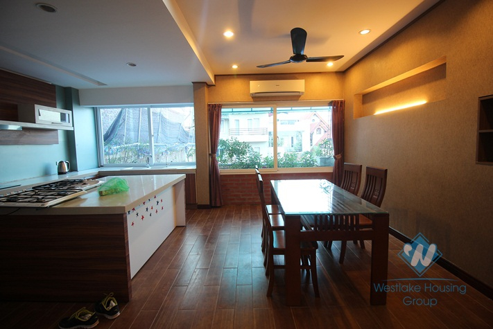 Wonderful duplex apartment for rent with 2 bedrooms and large terrace in Tay Ho, Hanoi