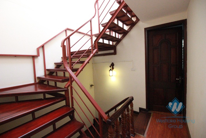 Newly renovated house with 05 bedrooms for rent in Xuan Dieu Street, Tay Ho, Hanoi.
