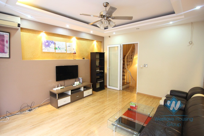Fully furnished house for rent on Dao Tan, Ba Dinh
