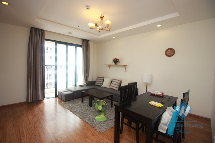 Nice 2 bedrooms, furnished for rent in the complex Times City.