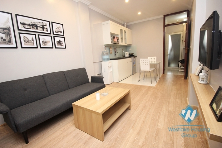 Apartment with beautiful balcony for rent in Ba Dinh, Hanoi