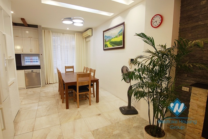 Lovely house with court yard and roof terrace for rent in Tay Ho, Hanoi