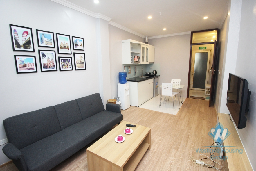 Apartment with beautiful balcony for rent in Ba Dinh district, Hanoi