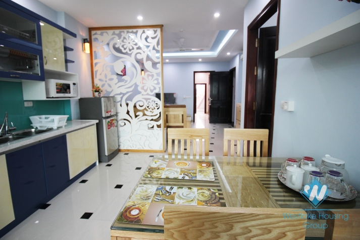 Airy beautiful apartment with green view for rent in Ba Dinh