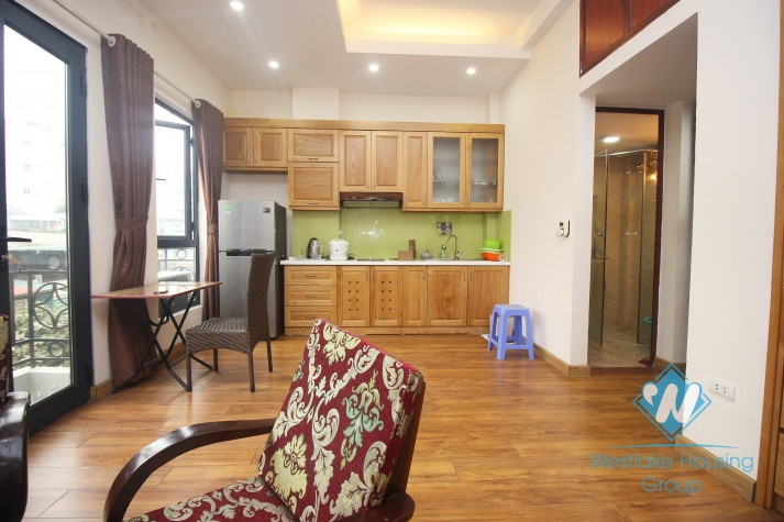 Bright one bedroom apartment for rent in Hoan Kiem.