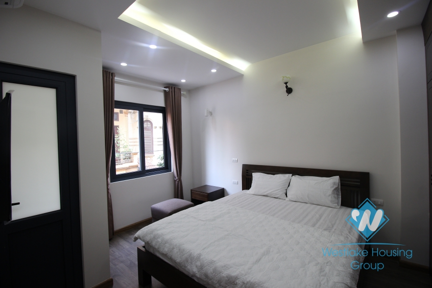 Bright serviced apartment for rent in Cau Giay District, Hanoi.