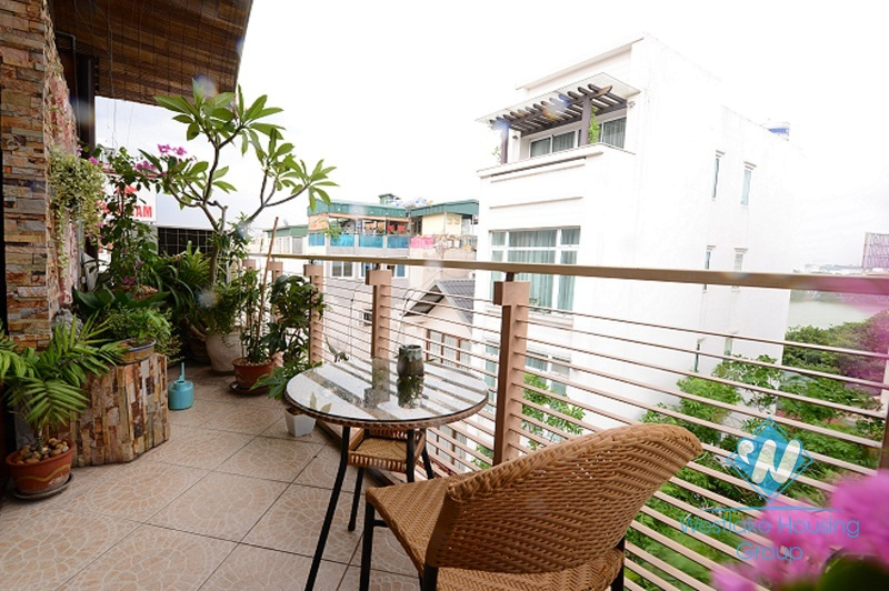Charming apartment with beautiful balcony for rent in Hoan Kiem