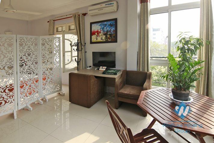 Lovely apartment with lake view for rent in Truc Bach, Ba Dinh