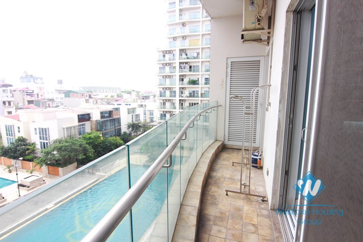 Morden 3 bedrooms apartment for rent in Golden Westlake, Ba Dinh district, Hanoi