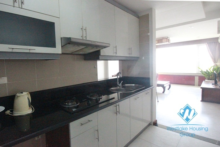 Nice apartment for rent in Truc Bach area with lake view, Ba Dinh District, Hanoi