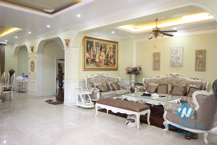 Beautiful house with large garden around for rent in Ciputra area, Tay Ho, Ha Noi