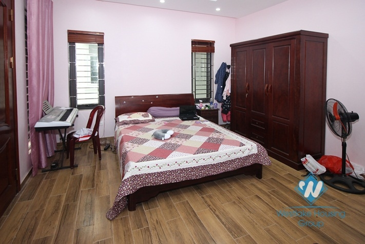 Good quality house with natural wooden furniture for rent in Ba Dinh