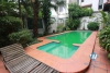 Charming house for rent in Tay Ho with garden yard and swimming pool, available now
