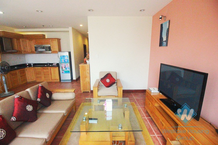 Spacious apartment for rent in Kim Ma, Ba Dinh, Hanoi