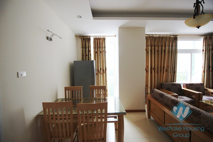 Bright 02 bedrooms apartment for rent in Kim Ma St, Ba Dinh, Hanoi.