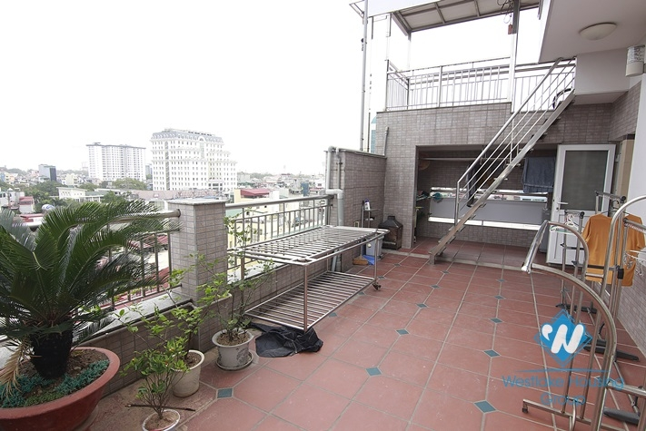 One bedroom for rent on the 10th floor, big terrace in Dong Da District