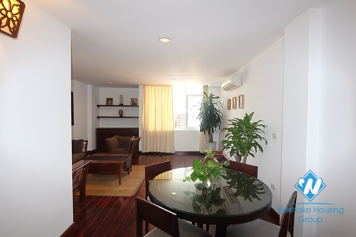 Duplex apartment rental with beautiful lakeview balcony in Truc Bach, Ba Dinh