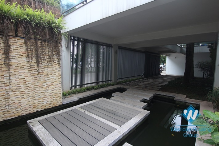 An exquisite villa for rent by Westlake Tay Ho with swimming pool splendid lake view