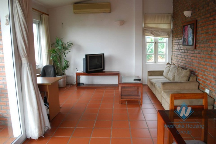 Two bed balcony apartment for rent on To Ngoc Van, Tay Ho, Hanoi