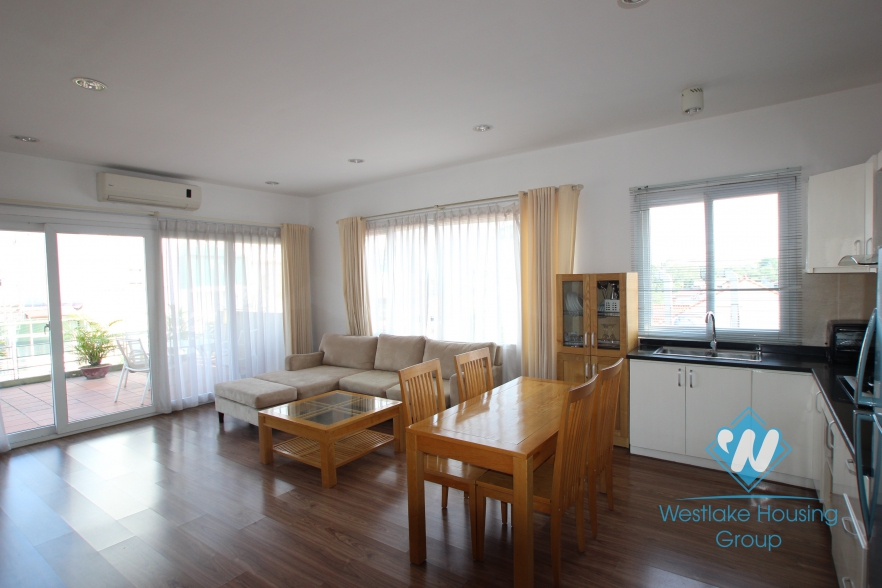 Bright 2 bedroom with spacious balcony for rent in Linh Lang street, Ba Dinh district, Hanoi