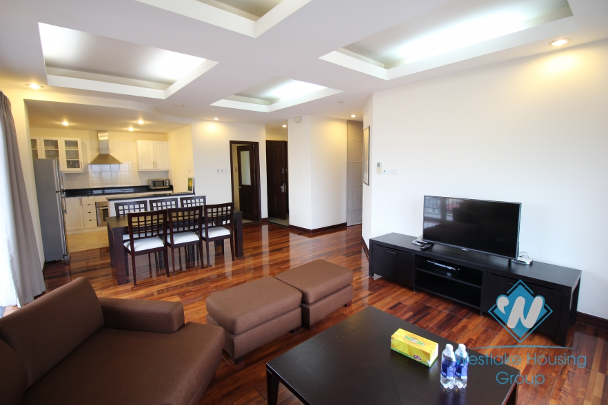 Two bedroom apartment for rent located in a service building in the center of Hoan Kiem district, Hanoi, Vietnam