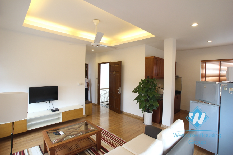 Nice one bedroom serviced apartment for rent in Linh Lang street, Ba Dinh, Hanoi
