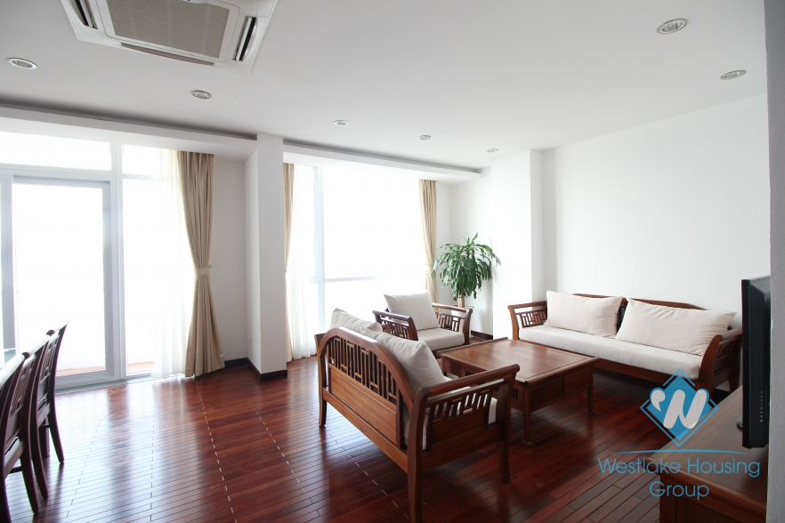 Lake view 3 bedroom spacious apartments for rent in Tay Ho