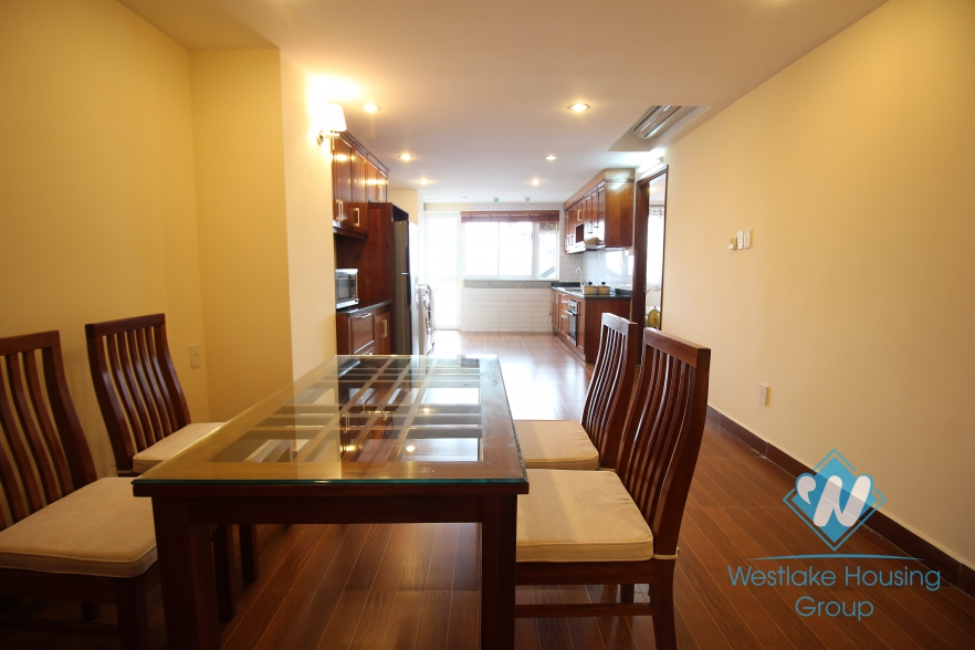 A beautiful apartment with 3 bedrooms for rent in Tay Ho, Ha Noi