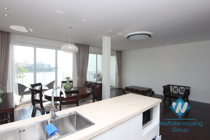 Lakeview luxury apartment for rent in Tay Ho, Hanoi